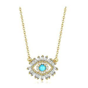 Evil Eye Jewelry Pendant Earrings Necklace S925